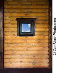 parete legno, finestra
