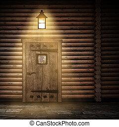 parete legno, notte