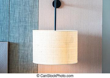 parete, luce, decorazione, interno, lampada