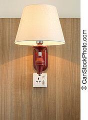parete, luce, lampada