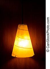 parete, luce, lampada, elettrico