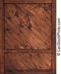 parete, mattone, door., vecchio