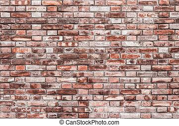 parete, mattone, fondo, struttura