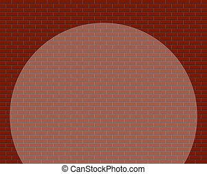 parete, mattone, riflettore