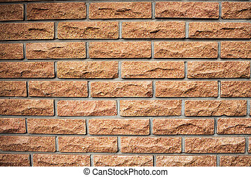 parete, mattone, struttura, fondo, rosso