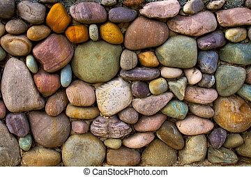 parete, pietra, fondo, multi-colored