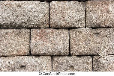 parete, pietra, rovine antiche, fondo
