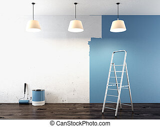 parete, pittura