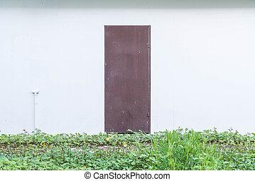 parete, porta, vuoto