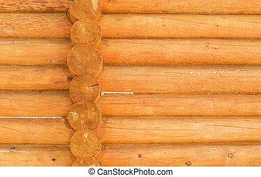 parete, rustico, closeup, casa legno