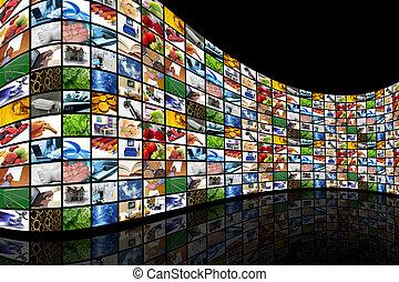 parete, schermi