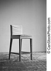 parete, sedia, fondo