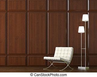 parete, sedia, legno, cladding