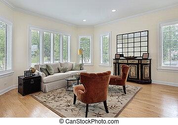 parete, soggiorno, windows