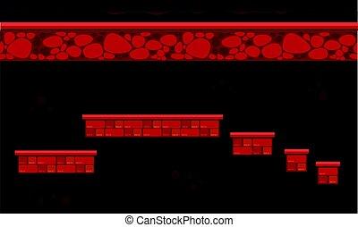 parete, stile, gioco, fondo, collezione