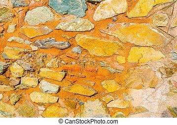 parete, struttura pietra, fondo