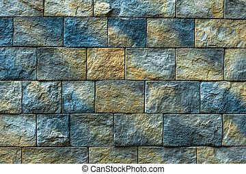parete, struttura, vecchio, mattone, fondo