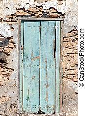 parete, vecchio, legno, pietra, porta