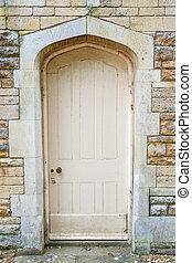 parete, vecchio, pietra, porta, esterno