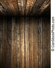 parete, vecchio, soffitto, legno, grunge