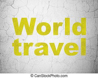 parete, viaggiare, vacanza, fondo, mondo, concept: