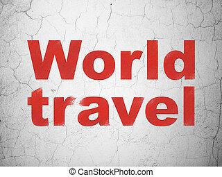 parete, viaggio mondo, concept:, fondo