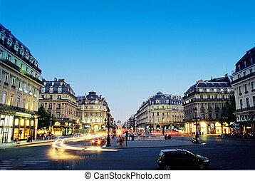 parigi, centro, notte