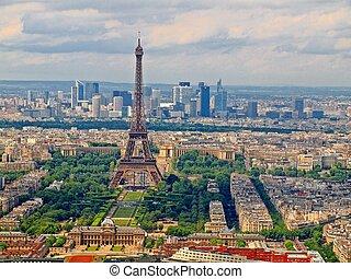 parigi, città, torre, vista, montparnasse