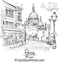 parigi, francia, montmartre
