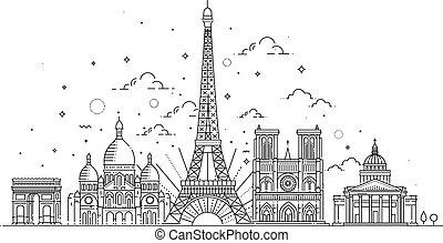 parigi, limiti, architettonico