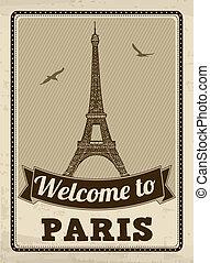 parigi, manifesto, retro