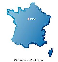 parigi, mappa, vettore, disegno, francia