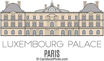 parigi, palazzo, lussemburgo