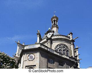 parigi, tradizionale, vista, vecchia chiesa