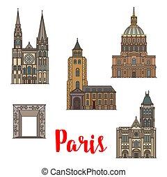 parigi, viaggiare, francese, architettura, punto di riferimento, icona