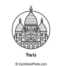 parigi, viaggiare, icona