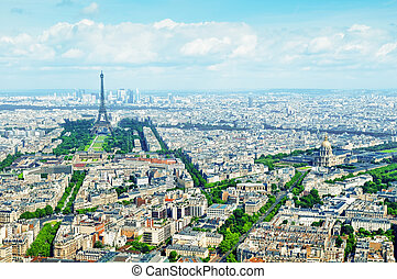 parigi, vista aerea