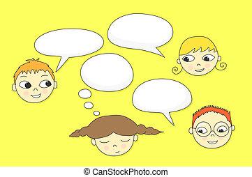 parlare, bambini