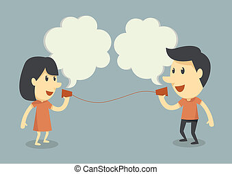 parlare, telefono, tazza