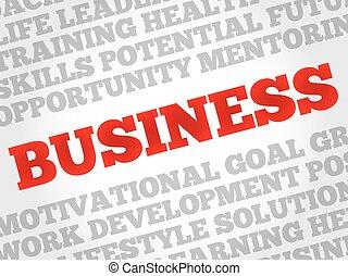 parola, affari, nuvola