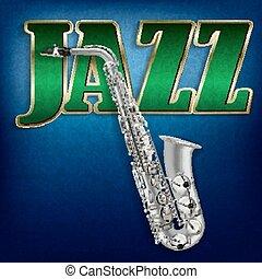 parola, astratto, jazz, sassofono, fondo, grunge, musica