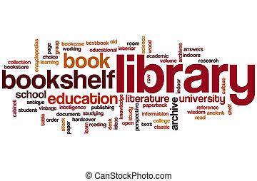 parola, biblioteca, nuvola