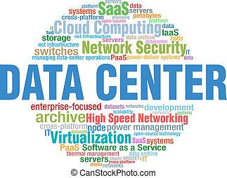 parola, centro, etichette, esso, tecnologia, dati, nuvola