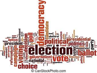 parola, elezione, nuvola