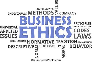 parola, etica, -, nuvola, affari