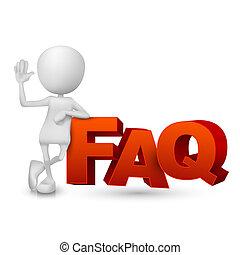 parola, ), (, faq, persona, domande, frequently, chiesto, 3d