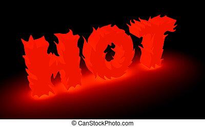 """parola, fatto, fiamma, """"hot"""""""