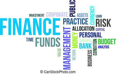 parola, -, finanza, nuvola