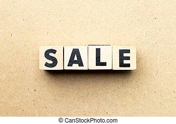 parola, fondo, vendita, legno, lettera, blocco