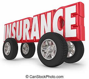 parola, guida, automobile, assicurato, camion, politica, ruote, assicurazione